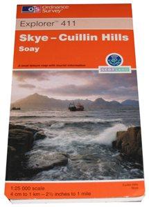 Ordnance Survey 411 Skye - Cuillin Hills 1:25 000
