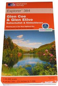 Ordnance Survey 384 Glen Coe 1:25 000