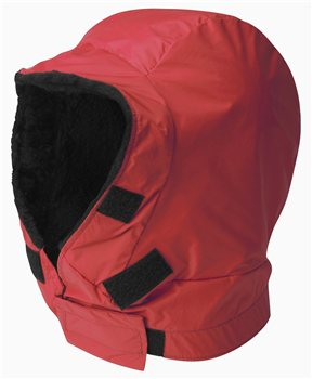 Buffalo Unisex Hood Pile & Pertex Shell Red - Click to view larger image