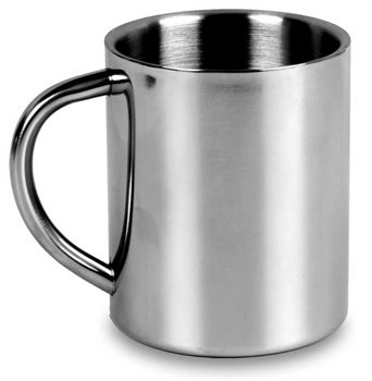 Lifeventure Mug 250ml Stainless Steel Cookware  - Click to view larger image
