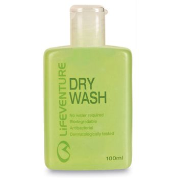 Lifeventure Dry Wash 100ml No Water Biodegradable Antibacterial Gel  - Click to view larger image