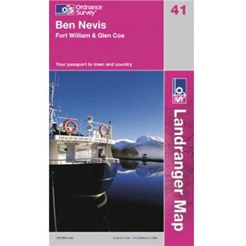 Ordnance Survey 41 Ben Nevis 1:50 000  - Click to view larger image