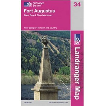 Ordnance Survey 34 Fort Augustus 1:50 000  - Click to view larger image
