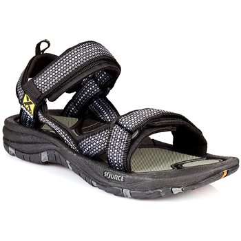 Source Mens Gobi Walking / Hiking Sandals Gobi Inca Black - Click to view larger image