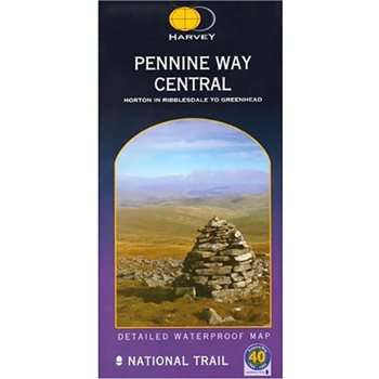 Harvey Maps Pennine Way Central Route Map  - Click to view larger image