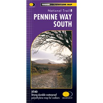 Harvey Maps Pennine Way South Route Map  - Click to view larger image
