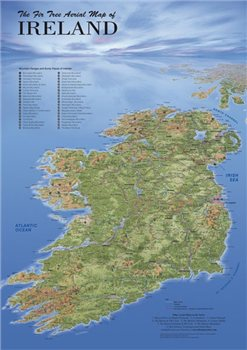 Fir Tree Maps All Ireland   - Click to view larger image