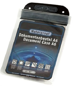 Ortlieb A6 Size Waterproof Transparent Document Case  - Click to view larger image