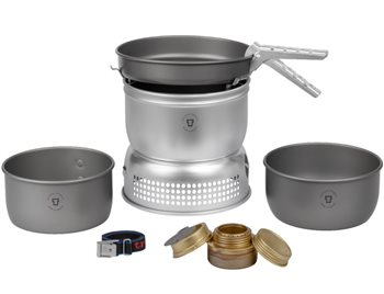 Trangia 27-7 UL/HA Series 1-2 Person Hard Anodised Stove System 690g Storm Cooker 27-7 UL HA - Spirit Burner - Click to view larger image