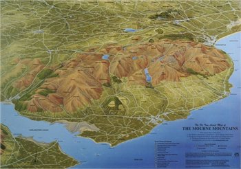 Fir Tree Maps Mournes Laminated Map  - Click to view larger image