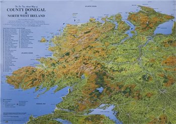 Fir Tree Maps Donegal Laminated  - Click to view larger image