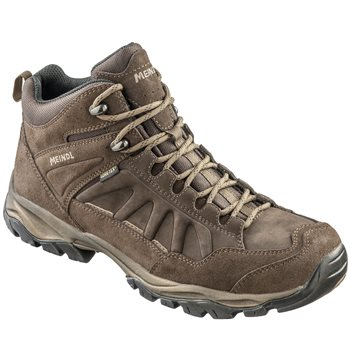 Meindl Mens Nebraska Mid GTX Walking / Hiking Boots Mahogany - Click to view larger image