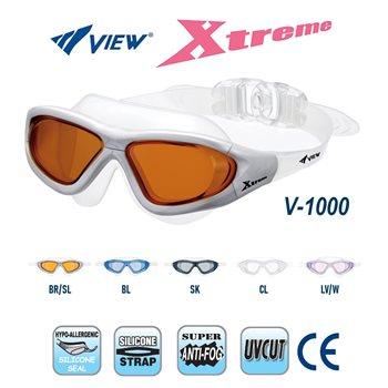 View Swim Goggles Xtreme V-1000 Anti-Fog UV Protection Swim Mask  - Click to view larger image