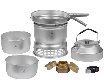 Trangia 25-2 UL Series 3-4 Person Aluminium Stove System 1025g Storm Cooker 25-2 UL - Spirit Burner - Click to view larger image