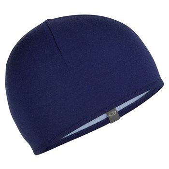 Icebreaker Pocket Hat Reversible Prussian Blue-Midnight Navy - Click to view larger image