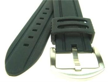 Beaver Silicone Watch Strap 20-22mm x 145-176mm Replacement  - Click to view larger image
