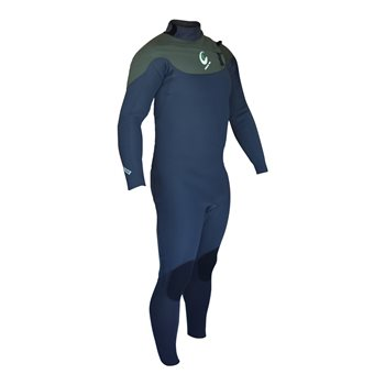 Circle One Mens ELEV8 5/4/3mm GBS Chest Zip Winter Wetsuit ELEV8 Mini Zip 5-4-3 - Click to view larger image