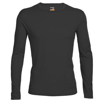 Icebreaker Oasis Long Sleeve Crewe 2017-18 Copper-Gritstone - Click to view larger image