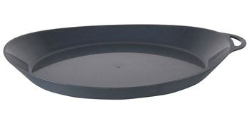 Lifeventure Ellipse Plate 270x230x30mm Durable Plastic Plate  - Click to view larger image
