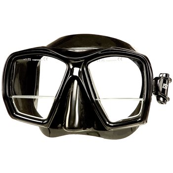 IST Gauge Dive Mask with +1.75 built-in Bifocal Lenses  - Click to view larger image