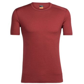 Icebreaker Oasis Short Sleeve Crewe 2017-18 Vintage Red - Click to view larger image