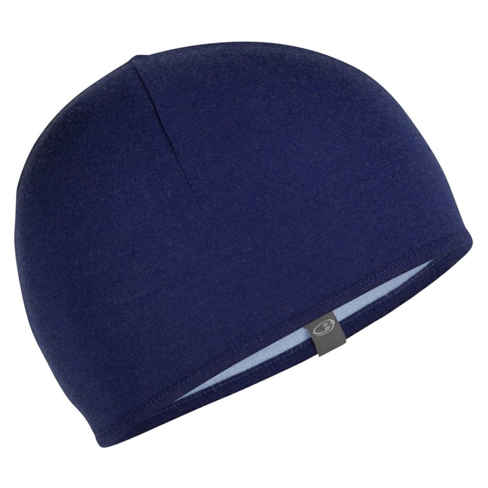 Icebreaker Pocket Hat Reversible Prussian Blue-Midnight Navy - Click to  view larger image 5ae308e73fd0