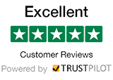 We have 5 Stars Excellent Customer Reviews - Powered by Trustpilot